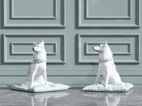家犬 雕塑模型 3d模型