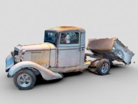 国际皮卡 破旧皮卡 废弃卡车 损毁汽车 场景炸毁汽车 遗弃汽车 破车