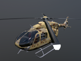 直升飞机 军用直升机 3d模型