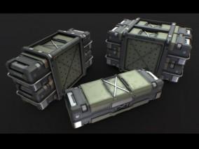 子弹箱 武器箱 枪械箱 弹药库 军备物资 战略资源 医疗箱 步枪  3d模型