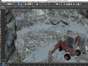 多种文件格式 采石场 工程车 石头堆 石料厂 石头谷
