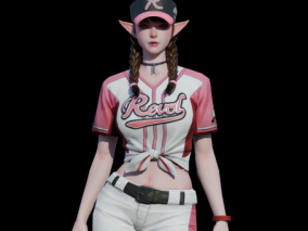 棒球女   女运动员  棒球衫   次世代女