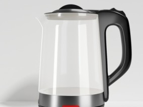 黑色透明电水壶,家用电器