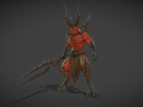 【带动画】次世代怪物 死神 地狱恶魔 领主 末日使者 炎魔 怪兽 夜叉 魔兽  3d模型