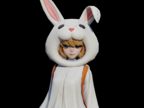 兔女郎  次世代少女   可爱女孩   女学生   时尚少女 3d模型