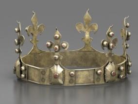 写实王冠 皇冠 头冠 黄金王冠 国王王冠 金属头冠 头饰 西方皇冠