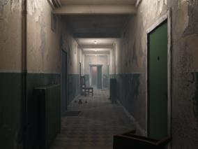 ue4 4.25版本 恐怖小屋 核泄漏遗弃的住宅 房屋 建筑 恐怖走廊 虚幻4 3d模型