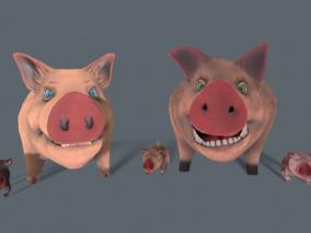 ue4 卡通野猪 可爱的猪 猪崽子 虚幻4 3d模型