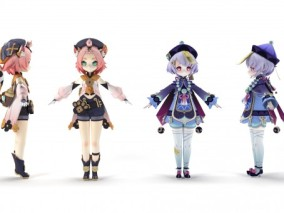 次世代 pbr 美少女 游戏3d模型