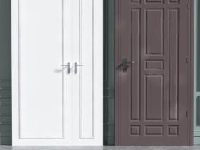 门 黑白门 装甲门 保险门 3d模型