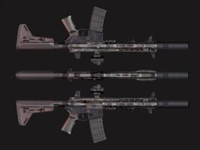 AR-15 突击步枪 自动步枪 枪械 3d模型