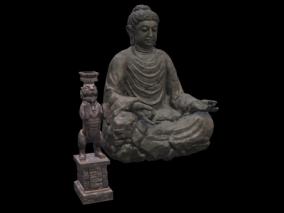 次世代 3D模型 雕塑 佛像 写实雕塑