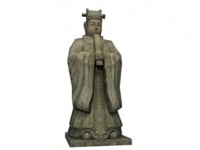 手绘游戏模型  石像雕像  带贴图