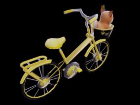 3D模型 自行车 代步车 共享单车 可爱自行车
