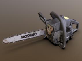 电锯 锯子 链锯 工具 伐木 农业设备 油锯 机械 切割锯  3d模型