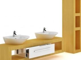 洗手池 盥洗台 洗漱台 洗手盆 简模 写实 卫生间 厕所 洗漱 3d模型
