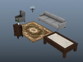 桌子  地毯  椅子