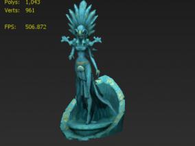 女神 雕塑 手绘贴图