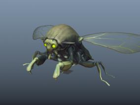 昆虫   甲壳虫  变异动物 3d模型