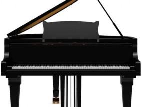 钢琴 写实钢琴 乐器钢琴 木制钢琴 电子钢琴 钢琴玩具 钢琴 儿童钢琴  3d模型