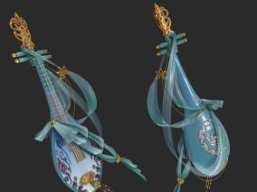 PBR 琵琶 乐器 民间乐器 中国古典乐器 弹拨乐器