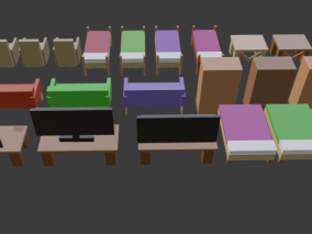 lowpoly低聚家具 柜子 沙发 茶几 电视 床