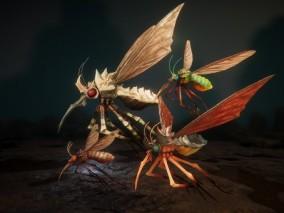 ue4 超高质量生物 蚊子 昆虫 沼泽生物  带绑定 动画 虚幻4 3d模型