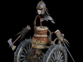 战轮     车子     将士服装