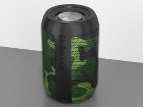 绿色蓝牙音箱 3d模型