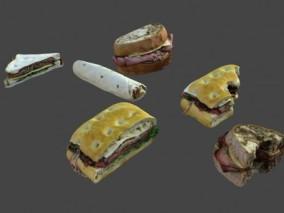 面包 西点 三明治 汉堡包 肉卷