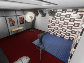 影棚   摄像棚   灯光   摄像机