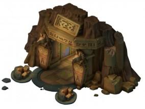 埃及法老 金字塔 游戏模型 卡通模型 狗头人阿努比斯 场景 入口 大门 洞口 3d模型