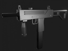 lowpoly冲锋枪 武器 枪械