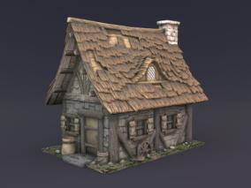 次世代小屋  次世代房子  中世纪房屋  小木屋   幻想小木屋 3d模型