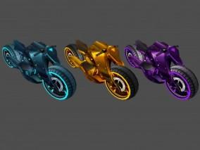 摩托车 机车 坐骑 赛博朋克 科幻朋克 机器人 未来世界 高科技 交通工具
