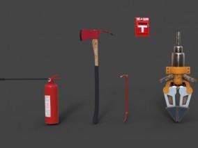 防火灾用品 灭火器 斧头 撬棍 报警器 钳子