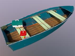 渔具 渔船 小木船 钓鱼工具盒 鱼竿 鱼钩 浮子 鱼漂 急救箱 3d模型