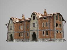未来风格的奇异大楼