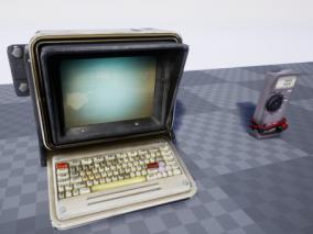 ue4 老式电脑 万用表 磁盘 电脑配件 虚幻4 3d模型