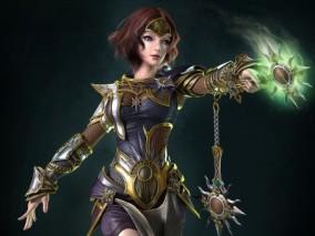 次世代女战士游戏角色模型