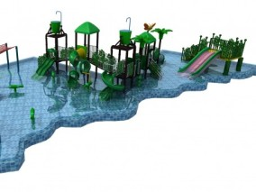 儿童乐园,水上滑梯,儿童泳池