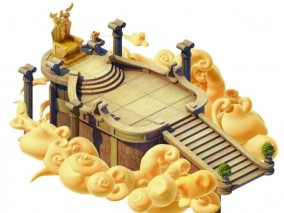 众神王座 天堂 云 古罗马 宙斯 雅典神话 3d模型