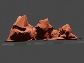 lowpoly低聚山体 山脉 地形 3d模型