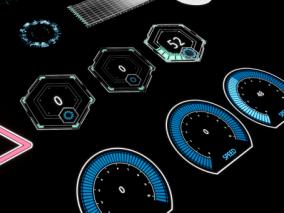 ue4 4.25版本 超酷特效 全息特效 表盘 圆环 进度条 超全特效集合 虚幻4 3d模型