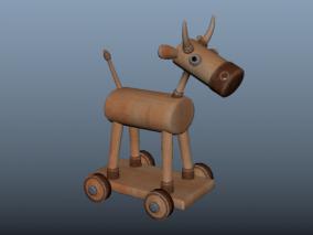 轮牛 木马车 卡通木马 木马轮车 卡通玩具 儿童玩具 小孩木马车
