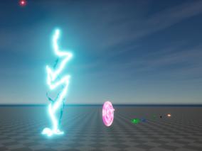 ue4  粒子特效 烟花 闪电 喷泉水特效 电池特效 枪火 粒子特效 虚幻4