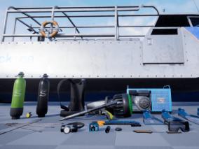 ue4 潜水艇 游艇 游泳设备 潜水装备 海上救援设备 虚幻4 3d模型