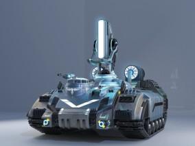 光棱坦克 光灵 游戏模型 机械机甲 未来科技 红色警戒 3d模型