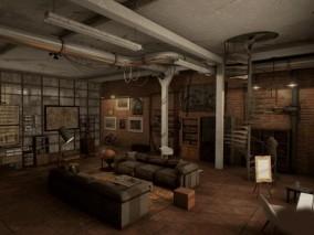ue4 福尔摩斯侦探室 欧洲建筑 卧室