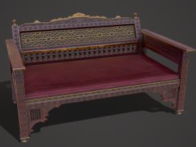 PBR 中式沙发 东方沙发 实木沙发